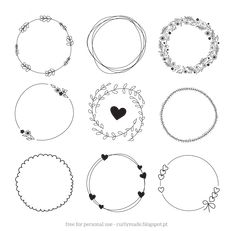 Displaying Hand Drawn Wreaths Curlymade.blogspot.pt.png