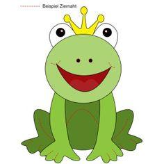 Kostenlose Applikationsvorlage Frosch (von knuddelmama.de)