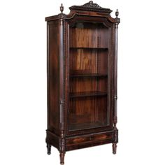 Antique French Louis XVI Rosewood Display Armoire
