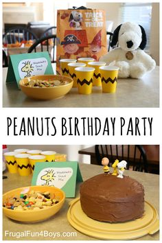 Fun food ideas for a Peanuts Birthday Party!  #sponsored #peanutsmovie