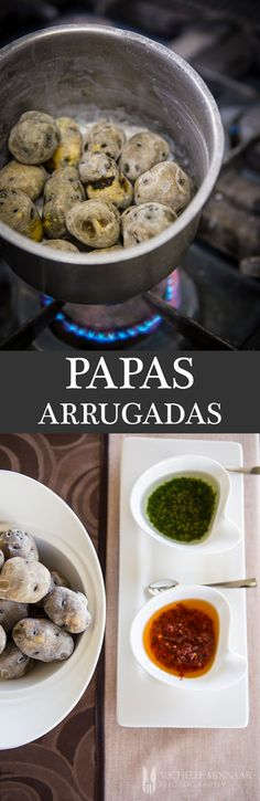 "Papas Arrugadas - Papas Arrugadas, meaning ""wrinkled potatoes"" in Spanish, is a typical Canarian dish found across the islands. Learn how to prepare it at home."
