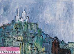 """Józef Czapski """"Montmartre"""", Paris  1973"""