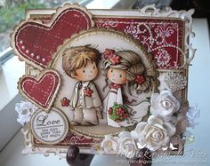 Card created with Wee Stamps' Love me Do. Both available as a digital image and a rubber stamp.