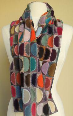 uncinetto colore blocco sciarpa digard