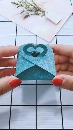 Cool Paper Crafts, Paper Crafts Origami, Origami Art, Diy Paper, Paper Art, Diy Origami Cards, Origami Candy Box, Pvc Pipe Crafts, Origami Gift Box