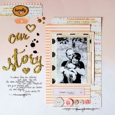 #Papercraft #Scrapbook #Layout.  created by Marinette using our Hip Kit Club October kits