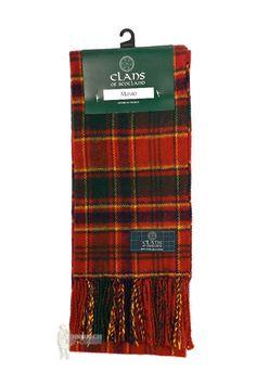 PURE NEW WOOL SCOTTISH TARTAN CLAN SCARF - MUNRO #ClansofScotland #Scarf