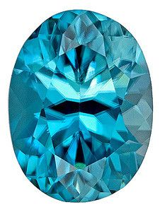 This natural genuine Oval cut Blue Zircon loose gemstone displays beautiful bright blue tone and is faceted to the highest professional lapidary standards for maximum brilliance, excellent proportions