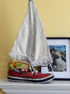 Sail-boot   Art Shoe Sculpture by kimdaniostudio on Etsy
