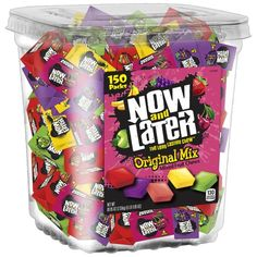 Advertisement - Now & Later, Original Mix Candy Tub, 90 Oz, 150 Count Bulk Candy, Candy Shop, Candy Jars, Gummy Bear Candy, Gummy Bears, Now And Later Candy, Individually Wrapped Candy, Fruit Chews, Purple Candy