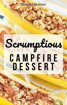 Get the recipe for this easy and fun campfire dessert that the whole family will love! #camping #familyvacation #campfood #dessertrecipes #recipeoftheday