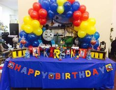 Rhonda D's Birthday / Thomas the Train - All Aboard Karson's Thomas the Train 4th Birthday Party at Catch My Party