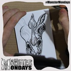 It continues... the creation of Monster Mondays No.3!! You can see it now shaped after what animal? Oh and don't forget the surprise!! Click the link and you might 'like' it!! <<http://ow.ly/UGz4a >> hehe #MonsterMondays #monster #drawing #penandink #art #instaart #instaartist #artist #mentalhealth #mentalhealthawareness #anger #illustration #wip #lion #graphic #anxiety #depression #smashthestigma #stigmafighter #suicideawareness #mentalhealthmatters #recoveryispossible #mentalhealthrecovery