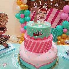 Funny Animals Lol Kids 27 Ideas For 2019 Doll Birthday Cake, Funny Birthday Cakes, Bithday Cake, 5th Birthday, Birthday Parties, Surprise Birthday, Troll Party, Lol Dolls, Pretty Cakes