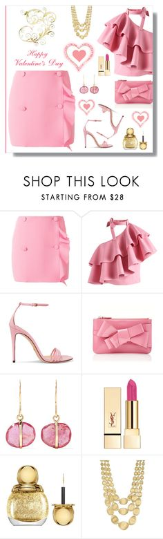 """Happy Valentines Day"" by outfitsloveyou ❤ liked on Polyvore featuring MSGM, Chicwish, Gucci, Delpozo, Melissa Joy Manning, Yves Saint Laurent, Christian Dior and Marco Bicego"