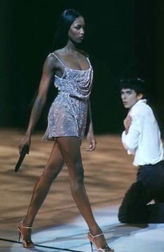 Naomi Campbell in Versace 90s