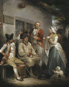 "Image result for The Deserter Pardoned"" by George Morland"