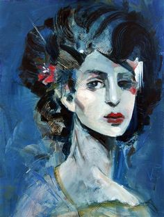 Lady Blue by Victoria Bearden | oil painting | Ugallery Online Art Gallery