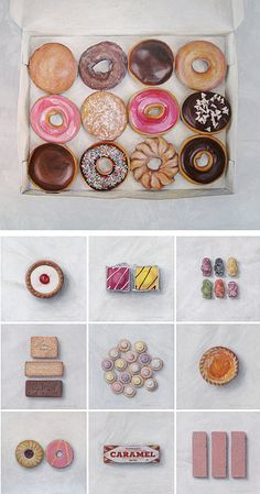 Artist: Joël Penkman Food Paintings Jordon - You could use Joel Penkman as a relevant artist because he paints boxes of donuts/ chocolates. You could say you like the perspective and so were inspired by him but then use media to make your art. Joel Penkman, Juan Sanchez Cotan, Sweets Art, Gcse Art Sketchbook, Food Painting, Paintings Of Food, Food Artists, Ecole Art, Food Drawing