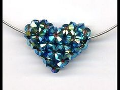 Handmade heart pendant with crystal beads malayalam tutorial