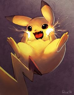 #Pikachu Sparkle Cheeks II by *falvie on deviantART #Pokemon