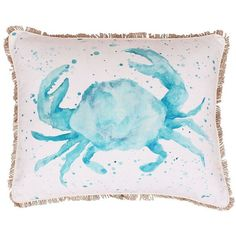 Thro By Mario Lorenz Carmello Crab Pillow ($65) ❤ liked on Polyvore featuring home, bed & bath, bedding and bed pillows
