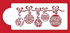 Christmas Ball Swag Cake Stencil