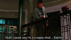 "[gif]  ""Dean? You're alive!"" - Kevin aka Katniss Solo #Supernatural  #DevilMayCare 9.02"