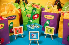 Simply Made with Sam's Birthday / Veggie Tales - Photo Gallery at Catch My Party Veggie Tales Cake, Veggie Tales Birthday, Veggie Tales Party, 7th Birthday, 1st Birthday Parties, Birthday Ideas, Veggietales, Kid Movies, Kids Church