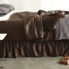Silk Bed Skirts   Manito Adjustable Bed Skirt - $425.00