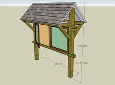 outdoor sign with roof - Google Search