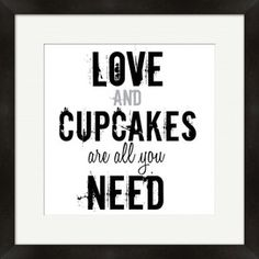 Love Cupcakes Wall Art, kitchen