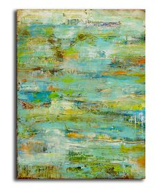 Title: Spring Safari     y Erin Ashley.This one of a kind mixed media painting was created on a 30x40x1.5 ready to hang canvas. Gorgeous layers of color, textures J'adore les couleurs !