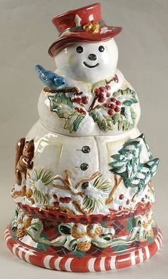 Jolly Ol Snowy Cookie Jar by Tracy Porter
