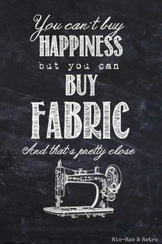 We are so happy when we buy fabrics, aren't we?