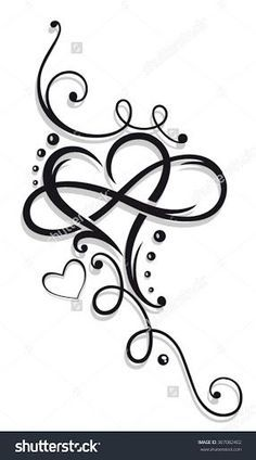 Tribal Heart with large infinity loop.Tribal Heart with large infinity loop. Name Tattoos, Wrist Tattoos, Body Art Tattoos, Sleeve Tattoos, Tribal Heart Tattoos, Tribal Tattoos For Women, Tattoos Skull, Arrow Tattoos, Tattoo Designs For Women