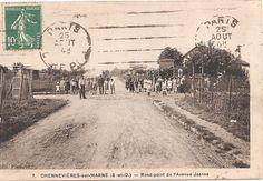 CPA - Chennevieres sur marne - Rond-point de l'Avenue Jeanne | eBay