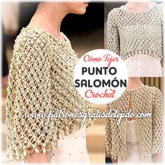punto salomon tejido al crochet, interestingAwesome Detailed Photos Of Chanel Diy Crochet Cardigan, Col Crochet, Crochet Motifs, Crochet Jacket, Crochet Woman, Crochet Shawl, Crochet Stitches, Crochet Patterns, Diy Crafts Crochet