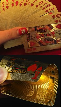 Luxury Gold Foil Plating Playing Cards, perfect for playing poker and blackjack