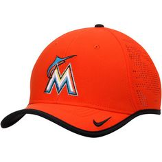 22464a3152125 Miami Marlins Nike Vapor Classic Performance Adjustable Hat - Orange