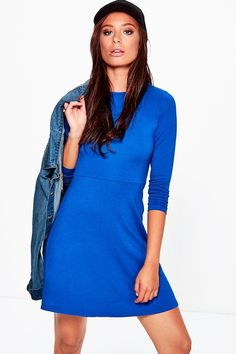 Ellie Skater Dress With Long Sleeves Skater Dress, Bodycon Dress, Casual Day Dresses, Polo Neck, Daily Fashion, Dress Collection, Dresses For Sale, Boohoo, Layering