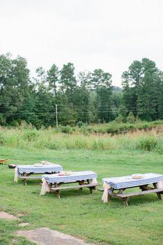 Farm Wedding Seating Idea