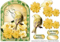 Yellow Bird Arched Card