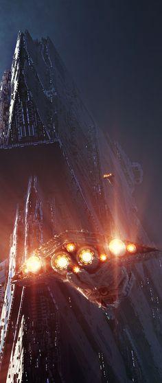 "alphamecha:""Oberon Station by GrahamTG"" Spaceship Art, Spaceship Concept, Arte Sci Fi, Sci Fi Art, Fantasy Comics, Sci Fi Fantasy, Sci Fi Ships, Alien Worlds, Environment Concept"
