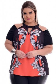 Plus Size Summer Fashion, Curvy Fashion, Womens Fashion, Moda Plus Size, Plus Size Women, Blouse Designs, Cool Outfits, Tunic Tops, Couture