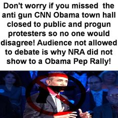 who-loves-guns-i-love-guns:  Obama Admin Forces George Mason to Close Town Hall to Public because of progun protesters could be seen or heard.. so he violated their 1st amendment rights and our 2nd amendment….so that no one could disagree with his lies to force Americans to agree with his attacks on the 2nd amendment! Invite only restriction on questions audience never allowed to stop Obama banter like he does with them and debate a lie he is telling! Obama says NRA only funded by Gun…