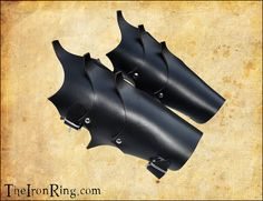 Dark elf bracers black leather for Larp and fantasy by theironring, €29.00