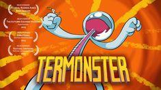 TERMONSTER - Este es mi primer corto de animación tradicional, realizado entre 2011 y 2013 para la materia Animación 2 de la Universidad del Cine.  This is my first animation… First Animation, Sound Design, Short Film, Disney Characters, Fictional Characters, Painting, Spanish, Weather, Art