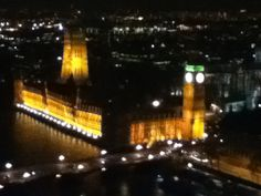House of Parliament at night from the London Eye