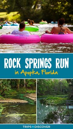 Rock Springs Run Is Floridas Natural Lazy River - Rock Springs Run Is Part Of Kelly Park In Apopka Fla And This Free Flowing Spring Is A Tubing Paradise Float Down The Swift Clear Creek As It Winds Through The Natural Scenery Of Central Florida Visit Florida, Florida Vacation, Florida Travel, Travel Usa, Florida Trips, Florida Springs, Florida Beaches, Sandy Beaches, Best Vacation Destinations